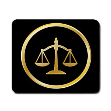 SCALES OF JUSTICE LAW LAWYER COURT JUDGE LARGE MOUSEPAD **SUPER ITEM**