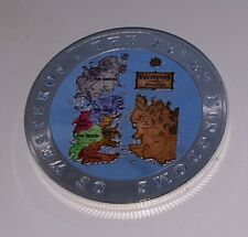 GAME OF THRONES SILVER MONETA MEDAGLIA Draghi Medievale GUERRE BATTAGLIE MITICO Epic USA