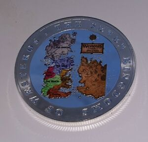 Game of Thrones Silver Coin Medal Dragons Medieval Wars Battles Mythical Epic US