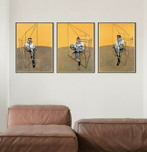 Francis Bacon Set of 3 Posters, Lucian Freud Wall Art Decor, Francis Bacon Print
