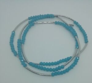 Chrysalis Integrity Aqua Stretch Beaded Bracelet Or Can Be Worn As A Necklace