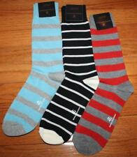 3 Pair NWT Mens Brooks Brothers Casual Dress Socks Light Blue Grey Striped *V2