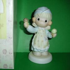 Precious Moments Scoop'in Up Some Love Girl Scooping Serving Ice Cream Cones MIB