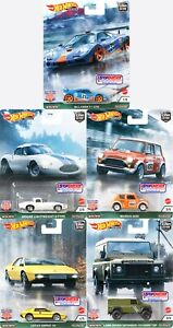 HOT WHEELS 2021 CAR CULTURE BRITISH HORSE POWER RELEASE A SET OF 5 IN STOCK