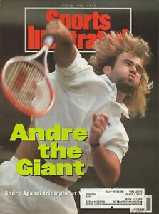 Andre Agassi--Tennis--1992 Sports IIlustrated Magazine