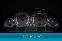 Tachoscheibe für BMW Tacho E46 Benzin oder Diesel M3 CARBON 3065 Tachoscheiben