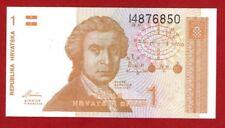 CROATIA 1 DINAR 1991 CRISP UNCIRCULATED BANKNOTE