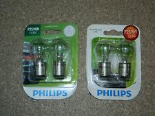 (2) NEW PACKS OF 2 PHILIPS LONGER LIFE P21/4W TAIL LIGHT BULBS P21/4WLLB2