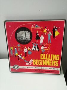 Calling all Beginners english by radio corso lingua inglese Valmartina 4 lp BBC