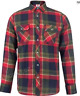 Lee Cooper Checked Green/Navy/Burgundy Shirts Mens UK Size Small