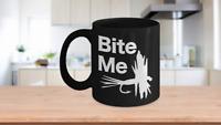 Fishing Lure Mug Black Coffee Cup Funny Gift for Him Fisherman Angler Dad hooked