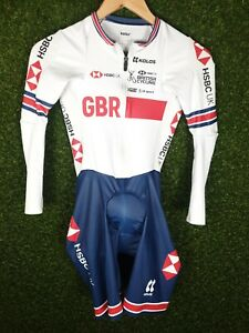 Womens British Cycling GBR Team Issue Padded Track Speed Skin Suit Size 3/Med