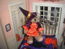 Dollhouse Halloween Decoration Lot Bear in Witch Dress for Barbie Kelly Dolls