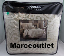 J. Queen New York Home Astoria King Comforter, Shams & Skirt Set Sand
