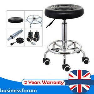 Mobile Medical/Spa/Drafting Swivel Stool Black with wheels and Height Adjustable