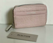 NEW! KENNETH COLE REACTION PALE ROSE HANDS OFF ZIP AROUND CLUTCH WALLET $38 SALE