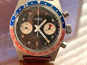 VINTAGE, VULCAIN CHRONOGRAPH WRISTWATCH, VAL.23, STAINLESS STEEL.