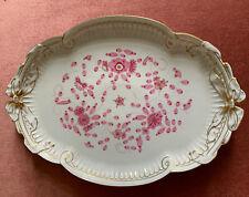 Meissen Neuwertig 40cm Ovales Tablett Platte Indisch Purpur Reich Handhaben