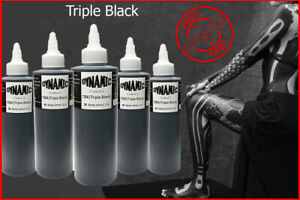 8 Oz Dynamic Triple Black Tattoo Ink Lining Shading Tribal Liner Shader Pigment