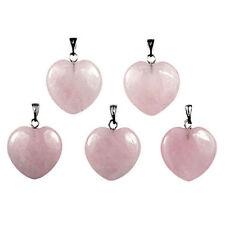 Collares y colgantes de joyería colgantes cuarzo rosa