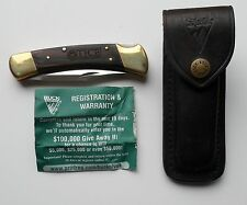 Buck 110 Folding Hunter w Sheath Unused Wood Handle  for Tice Electric Portland