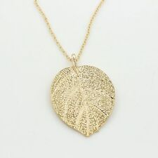 Women Fashion Jewelry Leaves Leaf Sweater Pendant Long Chain Necklace New