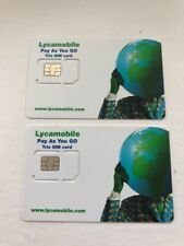 2 X US USA SIM CARD LYCA MOBILE USA 3IN1 SIM PLANS START FROM $19 FREE UK CALLS