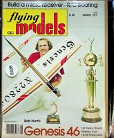 Vintage Flying Models Magazine August 1977 Bob Hunt's Genesis 46 m328