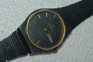 Vintage ARMITRON 20-3213Quartz Watch 34mm Day & Date 1980's Working Fine