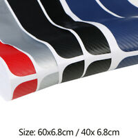 Door Sill Protector 3D Carbon Fiber Car Doors Guard Bumper Protection Trim Cover