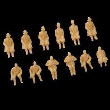 25/100 seated  model railway SITTING people figures OO gauge UN-PAINTED 15-20mm