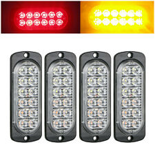 4PC Amber /Red 12LED Car Truck Emergency Warning Hazard Flash Strobe Light BAR