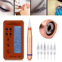 Rechargeable Microblading Permanent Makeup Eyebrow Lips Tattoo Pen Machine Kit
