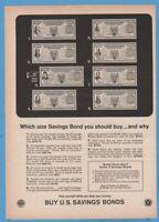 1965 US Series E Savings Bonds You should buy and way vintage print ad