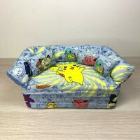 Pokemon Doll House Couch Customized Fabric Brick Couch Pikachu Squirtle Meowth