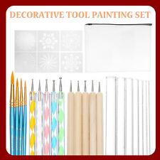 29Pcs Mandala Pen Dotting Rock Dot Nail Art Paint Stencil Painting Tools Kit