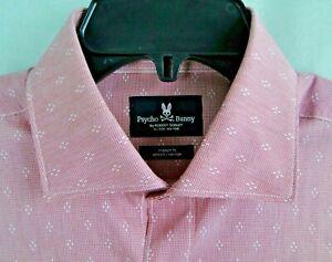 Psycho Bunny Dress Shirt Modern Fit Stretch Non-Iron MSRP $89 NWT  16 x 32/33