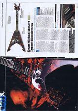 DEAN MICHAEL AMOTT TYRANT BLOODSTORM GUITAR REVIEWoriginal 2pagepress clippi