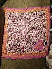Juicy Couture Black Label Los Angeles Chain Floral Square Polyester Scarf - NWT