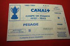 TICKET FC NANTES / RODEZ 9-1 !! COUPE FRANCE SAISON 1992/1993