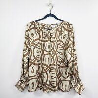 H&M Richard Allen Womens Top Blouse Vintage Style Boho Long Sleeve Size 14