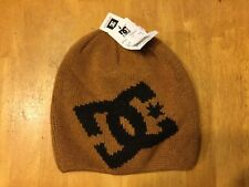 DC Wane Beanie Hat - Brown and Black Adult One Size Fits All Wool Acrylic Alpaca