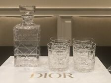 Christian Dior Crystal Whisky Carafe with 4 glasses (New)