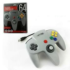Retrolink Nintendo 64 Classic USB Enabled Wired Controller Grey for PC and MAC