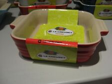 """Solid Red Le Creuset 5"""" Square Baking Dish Freezer to Oven"""