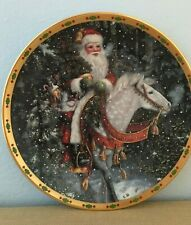 """Lenox Collections """"Santa of the Northern Forest"""" Collector Plate Nib"""