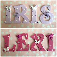 Customised Child Children Bedroom Decoration Wooden Name Plaque Letters Boy Girl