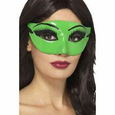 Green Wicked Witch Eyemask Masquerade Halloween Ladies Women Fancy Dress Costume