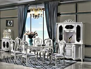 Set Dining Room Chair Set 4X Chairs Group Armchair Italian Luxury Furniture
