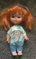 "VINTAGE PLAYMATES 9"" Vinyl DOLL - 1960's-1970's - Hong Kong - Red Hair"